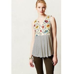 Anthropologie Tiny Brand Flower Crown Tank